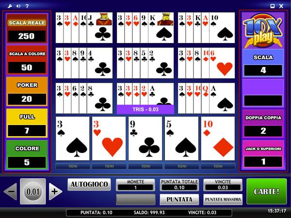 video poker aams