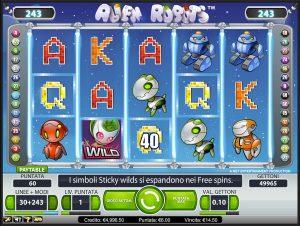 unibet casino slot alien robots