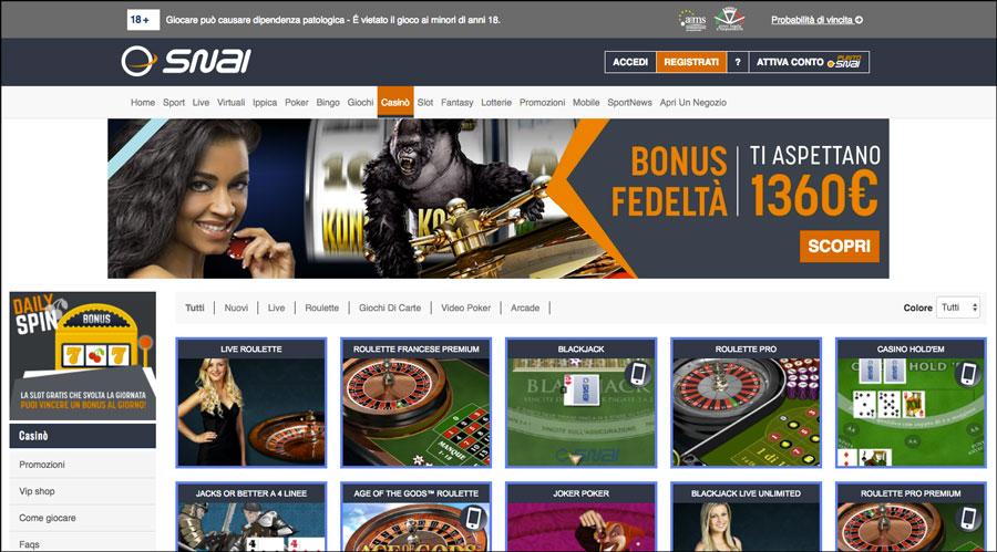 Casino con giochi playtech