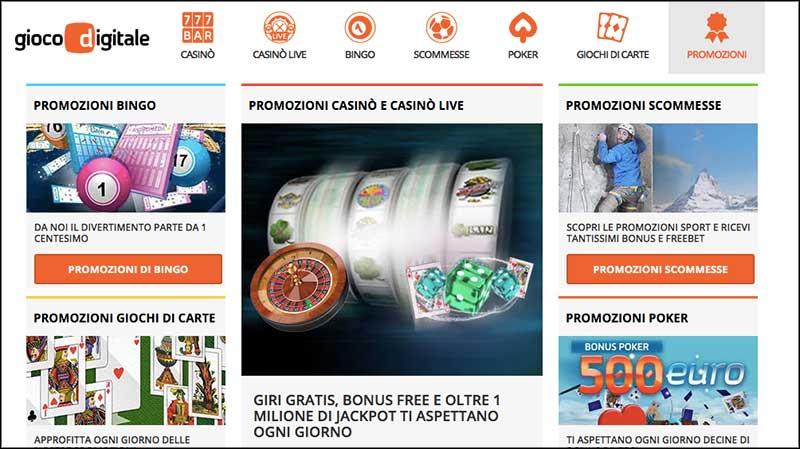 gioco digitale bonus