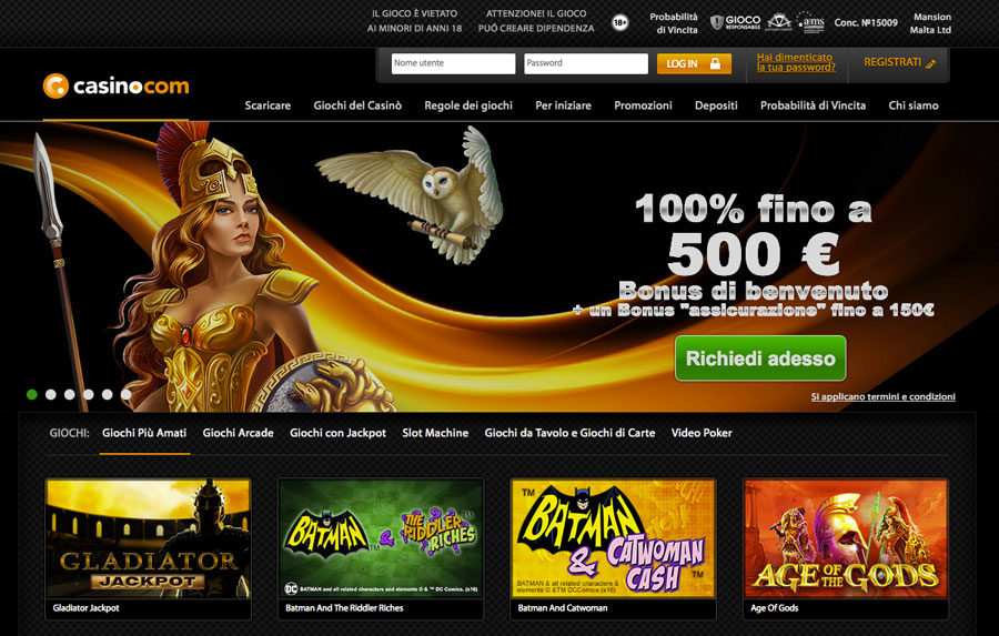 casino.com casino AAMS homepage