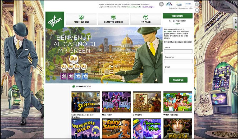 mr green casino online aams
