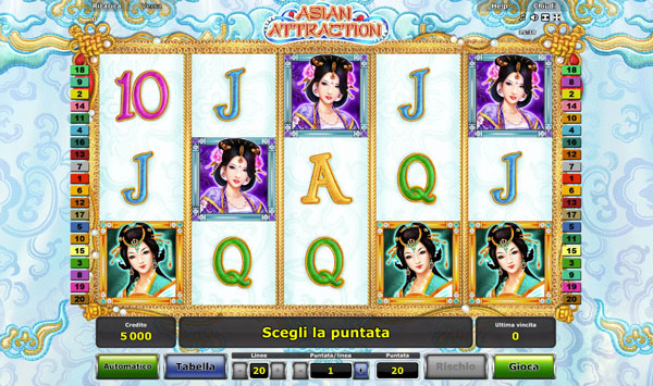 nuova slot asian attraction