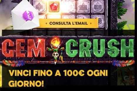 Gem Crush: fino a 100€ al giorno con 888