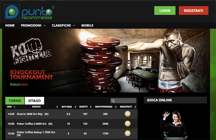puntoscommesse poker