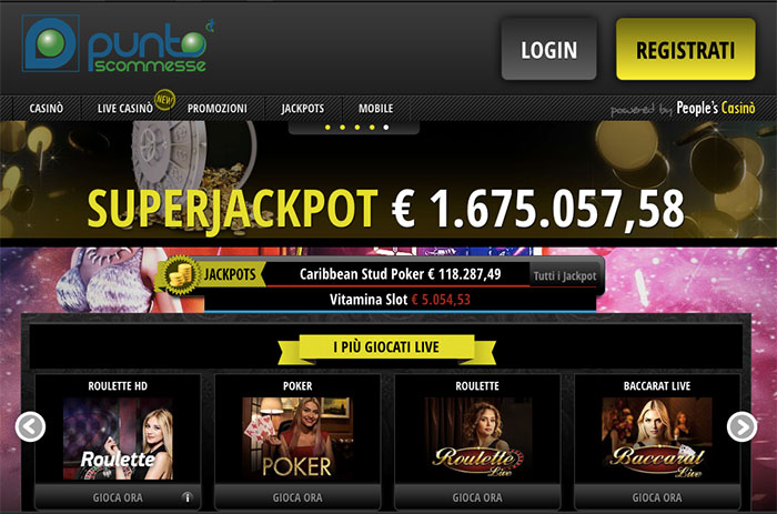 superscommesse casino