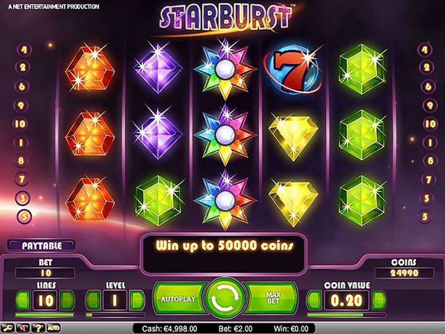slot machine aams starburst