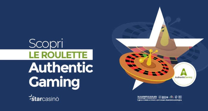 roulette authentic gaming
